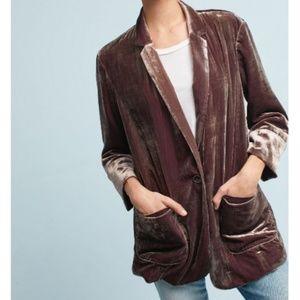 Anthropologie Jackets & Coats - Anthropologie Cartonnier Iridescent Velvet Blazer